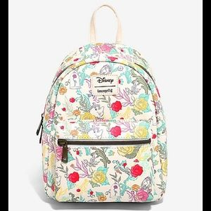 Loungefly Beauty and the Beast Floral backpack